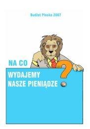 Na co miasto wyda pieniądze w 2007 roku? - Płock