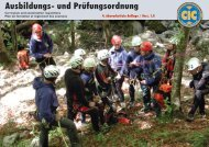 Curriculum/Lehrplan der CIC - Commission Internationale de Canyon