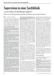 Supervision in einer Suchtklinik - Steinhardt Film + Verlag