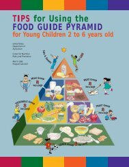 TIPS for Using the FOOD GUIDE PYRAMID - Center for Nutrition ...