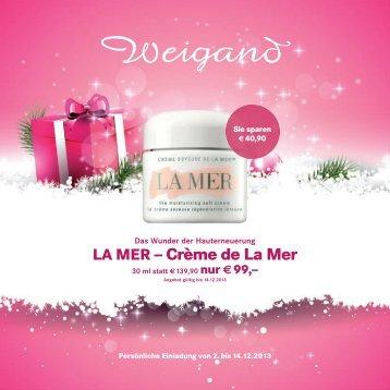 LA MER – Crème de La Mer - Parfümerie Weigand