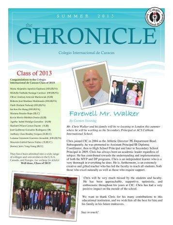 Summer Chronicle 2013 - Colegio Internacional de Caracas