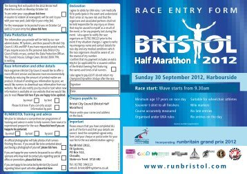 download here - Bristol Half Marathon