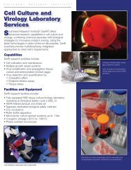 Cell Culture and Virology Laboratory Services - Southwest ...