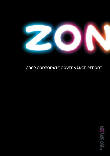 2009 CORPORATE GOVERNANCE REPORT - Zon