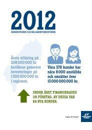 Årsredovisning med hållbarhetsredovisning 2012 - Norrlandsfonden