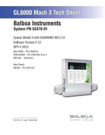 55470-01, GL8-GL8000M3-RCA-3.0 - Balboa Direct