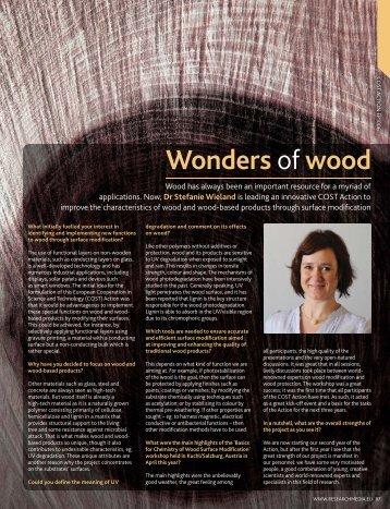 Wonders ofwood