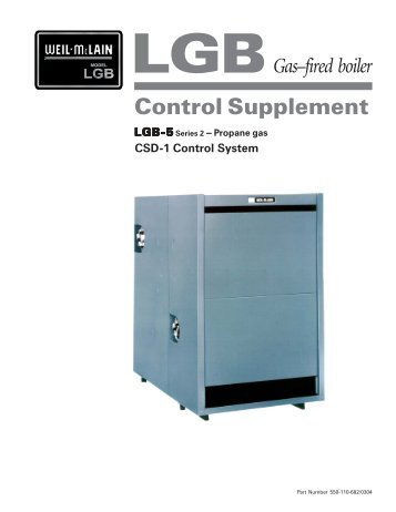 LGB 5 CSD-1 Natural Gas Control Supplement - Weil-McLain