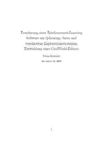 Erweiterung einer Reinforcement-Learning Software um Q-Learing ...
