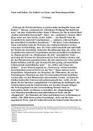 Natur und Kultur.pdf - Texte von Dieter Wolf