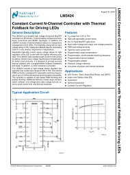 Notes LM3424 Constant Current N-Channel Controller with Thermal ...