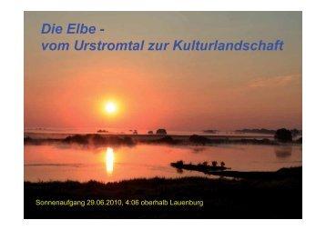 Die Elbe - vom Urstromtal zur Kulturlandschaft - Elbe-Saale-Vereine