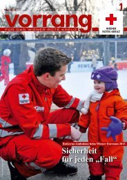 Vorrang, Ausgabe 1/2013 - Österreichisches Rotes Kreuz