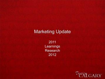 Marketing Update - Tourism Calgary