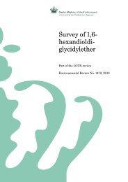 Survey of 1,6- hexandioldi- glycidylether - Miljøstyrelsen