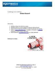 Catálogo de rodillos Didde-Glaser - Egomexico