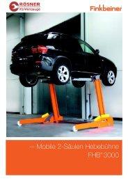 Mobile 2-Säulen Hebebühne FHB® 3000 - Rösner KFZ Werkzeuge