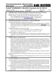 Sicherheitsdatenblatt / Material Safety Data Sheet ... - ARNEZEDER