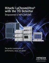 Hitachi LaChromUltra® with the TQ Detector - Hitachi High ...