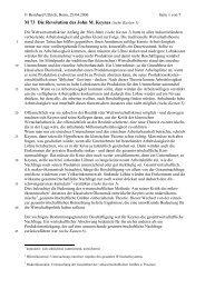 Die Revolution eines John Maynard Keynes - Sw-cremer.de