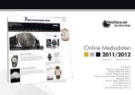 Online Mediadaten 2011/2012 - Watchtime.net