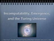 Incomputability, Emergence, and the Turing Universe