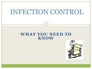 INFECTION CONTROL - UCSF Fresno