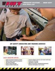 Safety Consulting & Training Flyer - IBT, Inc.