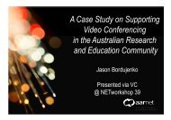 Network Operations A Case Study on Supporting Video ...