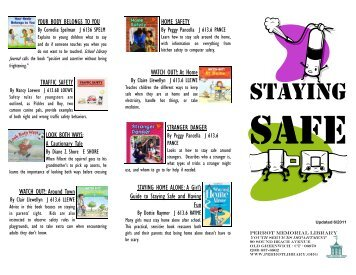 Staying Safe - Perrot Memorial Library