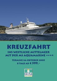 Kreuzfahrt - Prima Urlaub