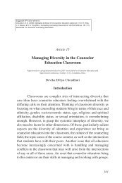 Managing diversity in the counselor education classroom.