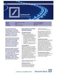 Länderprofil Tschechische Republik - Deutsche Bank