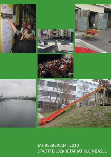 JAHRESBERICHT 2010 STADTTEILSEKRETARIAT KLEINBASEL