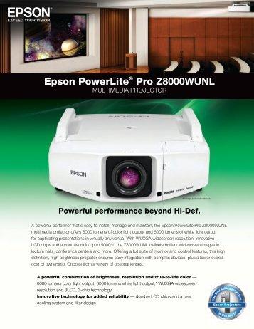 Epson PowerLite® Pro Z8000WUNL - Projector