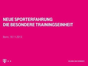 neue sporterfahrung die besondere trainingseinheit - SSV ...