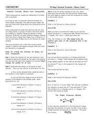 Writing Chemical Formulas (Binary Ionic) - Comcast.net