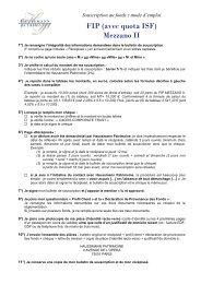 FIP (avec quota ISF) Mezzano II - Haussmann Patrimoine