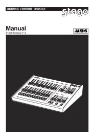 Stage Manual - Jands