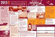 Veranstaltungsprogramm 2/2013 - Fürst Donnersmarck Stiftung