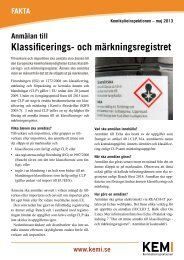 Anmälan till Klassificerings - Kemikalieinspektionen