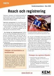 Faktablad om Reach och registrering - Kemikalieinspektionen