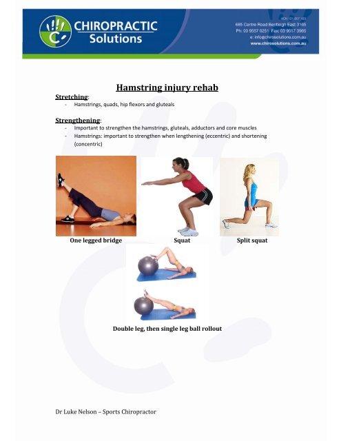 Hamstring injury rehab
