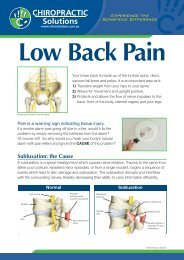 Lower Back Pain - Chiropractic Solutions