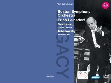 Boston Symphony Orchestra Erich Leinsdorf - International Classical ...