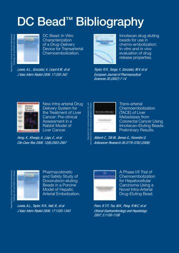 DC Bead™ Bibliography - Biocompatibles