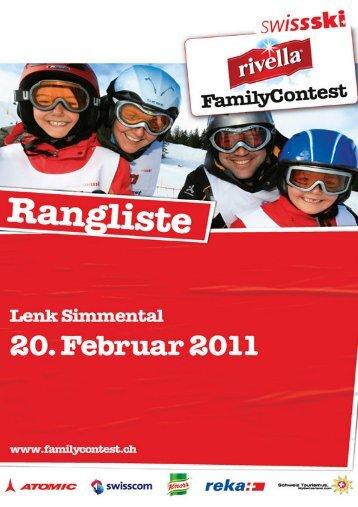 Rangliste - Swiss-Ski