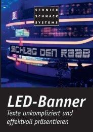 Das LED-Banner-System besteht aus drei Komponenten - Schnick ...