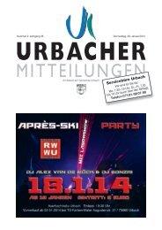 Urbacher Mitteilungsblatt vom 09.01.2014 - Gemeinde Urbach